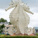 The largest iconic Seahorse statue in Miri.